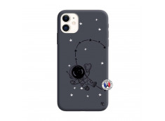 Coque iPhone 11 Astro Girl Silicone Navy