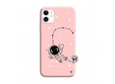 Coque iPhone 11 Astro Girl Silicone Rose