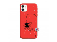 Coque iPhone 11 Astro Girl Silicone Rouge