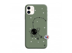 Coque iPhone 11 Astro Girl Silicone Vert