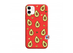 Coque iPhone 11 Avocats Silicone Rouge