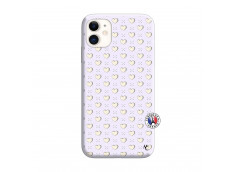 Coque iPhone 11 Little Hearts Silicone Lilas
