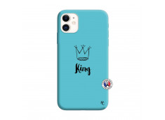 Coque iPhone 11 King Silicone Bleu