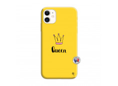 Coque iPhone 11 Queen Silicone Jaune