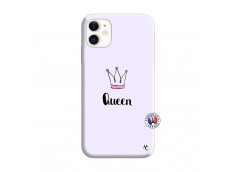 Coque iPhone 11 Queen Silicone Lilas