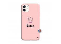 Coque iPhone 11 Queen Silicone Rose