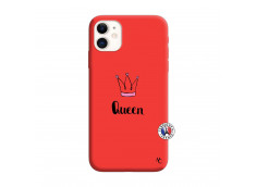 Coque iPhone 11 Queen Silicone Rouge