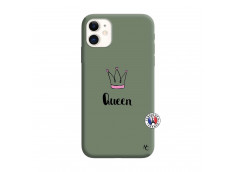Coque iPhone 11 Queen Silicone Vert