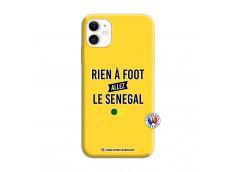 Coque iPhone 11 Rien A Foot Allez Le Senegal Silicone Jaune