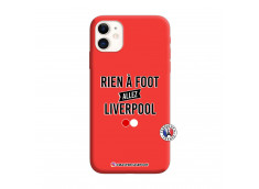 Coque iPhone 11 Rien A Foot Allez Liverpool Silicone Rouge