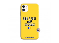 Coque iPhone 11 Rien A Foot Allez Sochaux Silicone Jaune