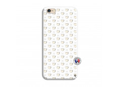 Coque iPhone 6/6S Little Hearts Silicone Blanc