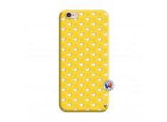Coque iPhone 6/6S Little Hearts Silicone Jaune