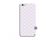 Coque iPhone 6/6S Little Hearts Silicone Lilas