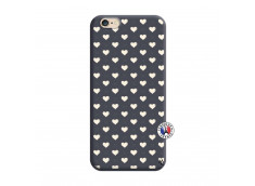 Coque iPhone 6/6S Little Hearts Silicone Navy