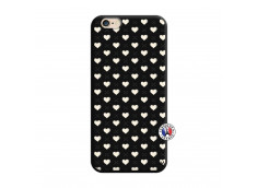 Coque iPhone 6/6S Little Hearts Silicone Noir
