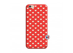 Coque iPhone 6/6S Little Hearts Silicone Rouge