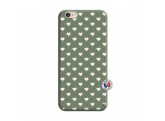 Coque iPhone 6/6S Little Hearts Silicone Vert