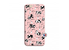 Coque iPhone 6/6S Cow Pattern Silicone Rose