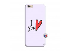 Coque iPhone 6/6S I Love You Silicone Lilas