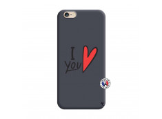 Coque iPhone 6/6S I Love You Silicone Navy