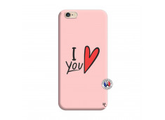 Coque iPhone 6/6S I Love You Silicone Rose