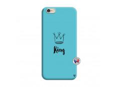 Coque iPhone 6/6S King Silicone Bleu