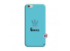 Coque iPhone 6/6S Queen Silicone Bleu