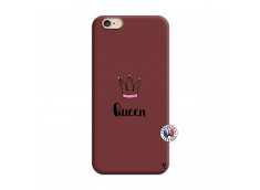 Coque iPhone 6/6S Queen Silicone Bordeaux