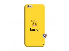 Coque iPhone 6/6S Queen Silicone Jaune
