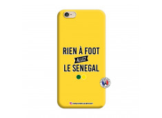 Coque iPhone 6/6S Rien A Foot Allez Le Senegal Silicone Jaune