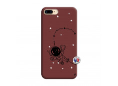 Coque iPhone 7 Plus/8 Plus Astro Girl Silicone Bordeaux