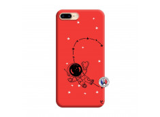 Coque iPhone 7 Plus/8 Plus Astro Girl Silicone Rouge