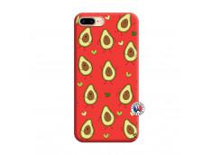 Coque iPhone 7 Plus/8 Plus Avocats Silicone Rouge