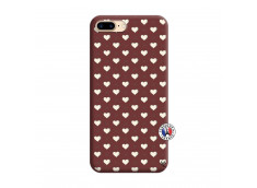 Coque iPhone 7 Plus/8 Plus Little Hearts Silicone Bordeaux