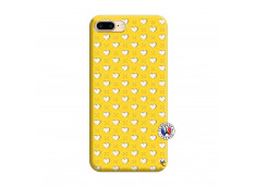 Coque iPhone 7 Plus/8 Plus Little Hearts Silicone Jaune