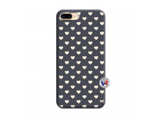 Coque iPhone 7 Plus/8 Plus Little Hearts Silicone Navy