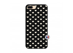 Coque iPhone 7 Plus/8 Plus Little Hearts Silicone Noir