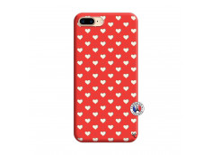 Coque iPhone 7 Plus/8 Plus Little Hearts Silicone Rouge