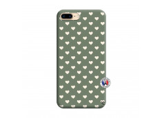 Coque iPhone 7 Plus/8 Plus Little Hearts Silicone Vert