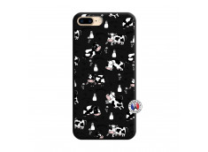 Coque iPhone 7 Plus/8 Plus Cow Pattern Silicone Noir