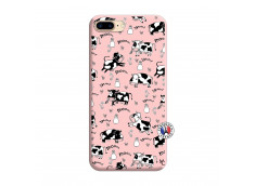 Coque iPhone 7 Plus/8 Plus Cow Pattern Silicone Rose