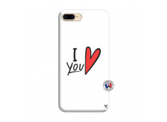 Coque iPhone 7 Plus/8 Plus I Love You Silicone Blanc