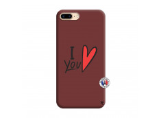Coque iPhone 7 Plus/8 Plus I Love You Silicone Bordeaux