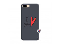 Coque iPhone 7 Plus/8 Plus I Love You Silicone Navy