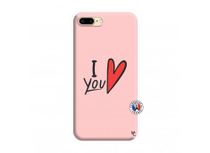 Coque iPhone 7 Plus/8 Plus I Love You Silicone Rose