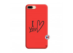 Coque iPhone 7 Plus/8 Plus I Love You Silicone Rouge