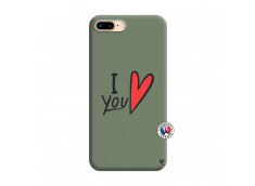 Coque iPhone 7 Plus/8 Plus I Love You Silicone Vert