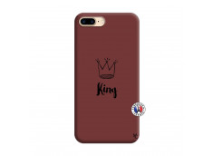 Coque iPhone 7 Plus/8 Plus King Silicone Bordeaux