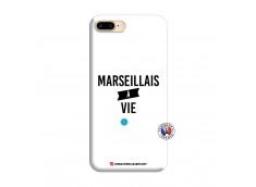 Coque iPhone 7 Plus/8 Plus Marseillais à Vie Silicone Blanc